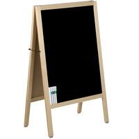 Choice A-Frame Marker Board Sidewalk Sign - Natural Oak Wood - 25 inch x 42 inch