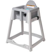 Koala Kare KB977-01 KidSitter Gray Assembled Stackable Multi-Use Plastic High Chair