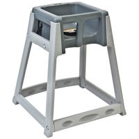 Koala Kare KB877-01 KidSitter Gray Stackable Multi-Use Plastic High Chair