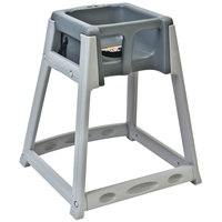 Koala Kare KB877-01 KidSitter Gray Assembled Stackable Multi-Use Plastic High Chair