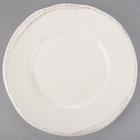 World Tableware FH-500 Farmhouse 6 3/8 inch Round Ivory (American White) Wide Rim Porcelain Plate - 36/Case