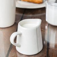 World Tableware FH-522 Farmhouse 3 oz. Ivory (American White) Porcelain Creamer - 36/Case