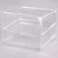 Cal-Mil 254 Classic Two Tier Acrylic Display Case with Rear Door - 15 inch x 13 inch x 11 inch