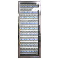 Styleline CL3072-LT Classic Plus 30 inch x 72 inch Walk-In Freezer Merchandiser Door with Shelving - Anodized Bright Silver, Left Hinge