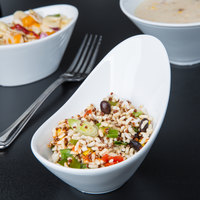 World Tableware BW-6706 Chef's Selection II 6.5 oz. Ultra Bright White Porcelain Riviera Bowl - 24/Case