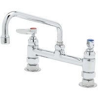 T&S B-2280-060X Deck Mounted Faucet with 8 inch Swing Nozzle, 8 inch Adjustable Centers, 18.39 GPM Stream Regulator Outlet, Eterna Cartridges, and Lever Handles