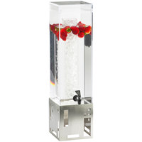 Cal-Mil 1602-3-55 3 Gallon Stainless Steel Beverage Dispenser with Ice Chamber