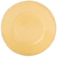 World Tableware FH-500B Farmhouse 6 3/8 inch Round Butter Yellow Wide Rim Porcelain Plate - 36/Case