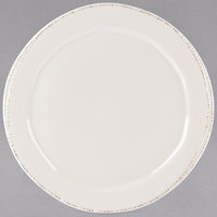 World Tableware FH-603 Farmhouse 10 1/2 inch Round Ivory (American White) Medium Rim Porcelain Plate - 12/Case