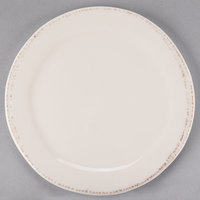 World Tableware FH-600 Farmhouse 6 3/8 inch Round Ivory (American White) Medium Rim Porcelain Plate - 36/Case