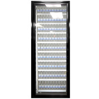 Styleline CL3080-LT Classic Plus 30 inch x 80 inch Walk-In Freezer Merchandiser Door with Shelving - Satin Black, Left Hinge