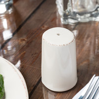 World Tableware FH-520 Farmhouse 3 inch Ivory (American White) Porcelain Salt Shaker - 36/Case