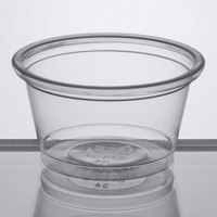 Choice 0.75 oz. Clear Plastic Souffle Cup / Portion Cup   - 2500/Case