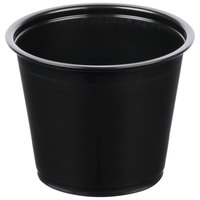 Choice 5.5 oz. Black Plastic Souffle Cup / Portion Cup - 100/Pack