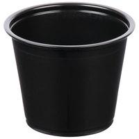 5.5 oz. Black Plastic Souffle Cup / Portion Cup - 2500/Case