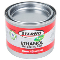 Sterno Products 20106 45 Minute Ethanol Gel Chafing Dish Fuel Canister   - 6/Pack
