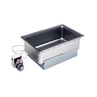 Wells SS206TDU Drop-In Rectangular Hot Food Well with Drain - Top Mount, Thermostatic Control