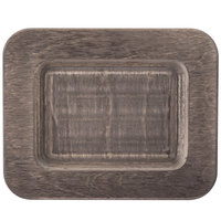 Lodge UMSRC 7 1/2 inch x 6 inch Walnut Stain Rectangular Wood Underliner