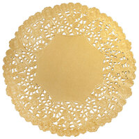 6 inch Gold Foil Lace Doily - 1000 / Case
