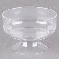 Visions 6 oz. Clear Plastic 1-Piece Dessert Cup   - 240/Case