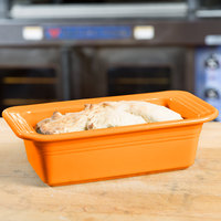 Homer Laughlin 813325 Fiesta Tangerine 5 3/4 inch x 10 3/4 inch x 3 inch Loaf Pan - 3/Case
