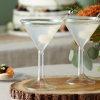 Visions 5.5 oz. Clear Plastic 2-Piece Martini Cup - 96/Case