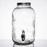 1.3 Gallon Style Setter Orchard Fruit Embossed Glass Beverage Dispenser