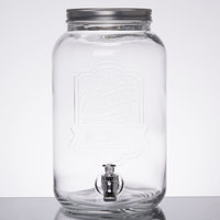 2 Gallon Style Setter Main Street Embossed Glass Beverage Dispenser