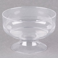 Visions 6 oz. Clear Plastic 1-Piece Dessert Cup - 10/Pack