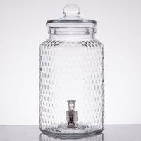 1 Gallon Style Setter Hampton Crystalline Glass Beverage Dispenser