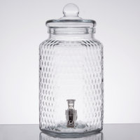 1 Gallon Style Setter Hampton Crystalline Glass Beverage Dispenser