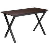 Flash Furniture NAN-JN-2611-GG Walnut Laminate Computer Desk with Black Frame - 47 inch x 24 inch x 29 inch