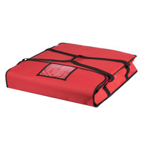Choice Soft-Sided Insulated Pizza Delivery Bag, Red Nylon, 24 inch x 24 inch x 5 inch - Holds Up To (2) 20 inch or 22 inch Pizza Boxes or (1) 24 inch Pizza Box