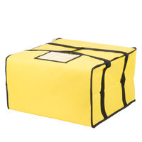 Choice Soft-Sided Insulated Pizza Delivery Bag, Yellow Nylon, 20 inch x 20 inch x 12 inch - Holds Up To (6) 16 inch, (5) 18 inch, or (4) 20 inch Pizza Boxes