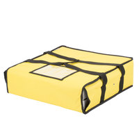 Choice Soft-Sided Insulated Pizza Delivery Bag, Yellow Nylon, 18 inch x 18 inch x 5 inch - Holds Up To (2) 16 inch Pizza Boxes or (1) 18 inch Pizza Box