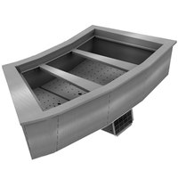 Delfield N8159-BR Three Pan Curved Drop-In Refrigerated Food Well