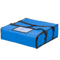 Choice Soft-Sided Insulated Pizza Delivery Bag, Blue Nylon, 18 inch x 18 inch x 5 inch - Holds Up To (2) 16 inch Pizza Boxes or (1) 18 inch Pizza Box