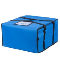 Choice Soft-Sided Insulated Pizza Delivery Bag, Blue Nylon, 20 inch x 20 inch x 12 inch - Holds Up To (6) 16 inch, (5) 18 inch, or (4) 20 inch Pizza Boxes