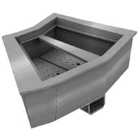 Delfield N8144-BR Two Pan Curved Drop-In Refrigerated Food Well