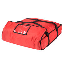 ServIt 24 inch x 24 inch x 5 inch Red Soft-Sided Heavy-Duty Nylon Insulated Pizza Delivery Bag - Holds Up To (2) 20 inch or 22 inch Pizza Boxes or (1) 24 inch Pizza Box