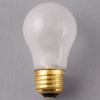 Satco S3815 25 Watt Frosted Finish Incandescent General Service Light Bulb - 130V (A15)