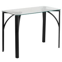 Flash Furniture NAN-YLCD1214-GG Tempered Glass Desk with Metal Frame - 39 inch x 20 inch x 29 inch