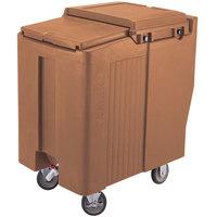 Cambro ICS200TB157 Coffee Beige Sliding Lid Portable Ice Bin - 200 lb. Capacity Tall Model