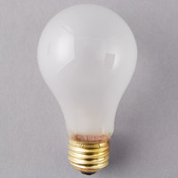 Satco S3971 100 Watt Frosted Finish Incandescent Rough Service Light Bulb - 2/Pack