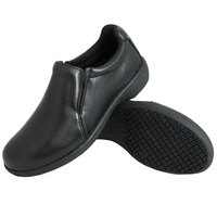 Genuine Grip 410 Women's Size 6 Wide Width Black Ultra Light Non Slip Slip-On Leather Shoe