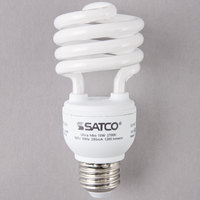 Satco S7224 18 Watt (75 Watt Equivalent) Warm White Mini Spiral Compact Fluorescent Light Bulb - 120V (T2)