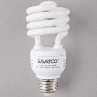 Satco S7224 18 Watt (75 Watt Equivalent) Warm White Mini Spiral Compact Fluorescent Light Bulb - 120V (T2)