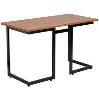 Flash Furniture NAN-JN-2811-GG Cherry Laminate Computer Desk with Black Frame - 47 inch x 24 inch x 29 inch