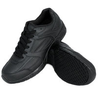 Genuine Grip 1110 Women's Size 6.5 Wide Width Black Leather Athletic Non Slip Shoe