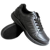 Genuine Grip 160 Women's Size 8 Medium Width Black Leather Athletic Non Slip Shoe